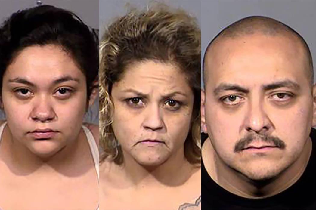 From left, Savanna Espinoza, Jacklynn Espinoza and Johnny Espinoza (Las Vegas Metropolitan Poli ...