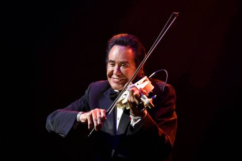 Wayne Newton celebrates 60 years of entertaining during a performance at Caesars Palace on Wedn ...