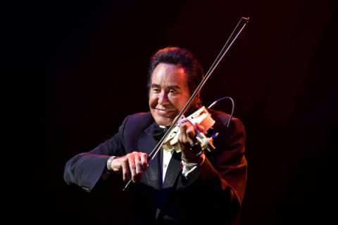 Wayne Newton celebrates 60 years of entertaining during a performance at Caesars Palace on Wedn ...