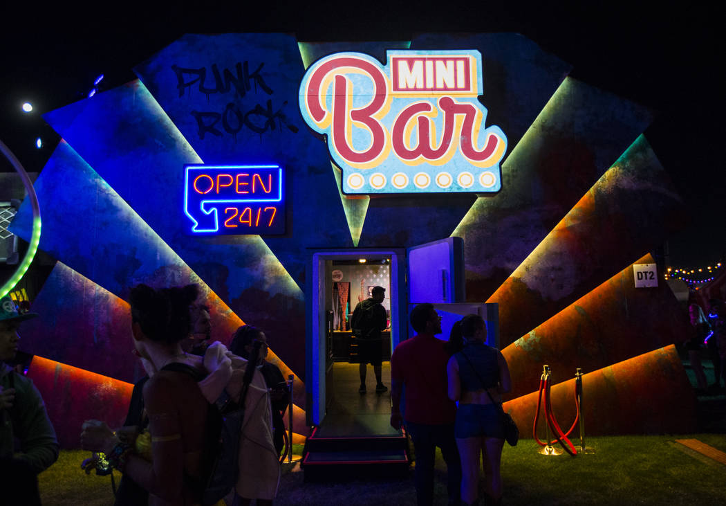 A view of the Mini Bar during the first day of the Electric Daisy Carnival at the Las Vegas Mot ...