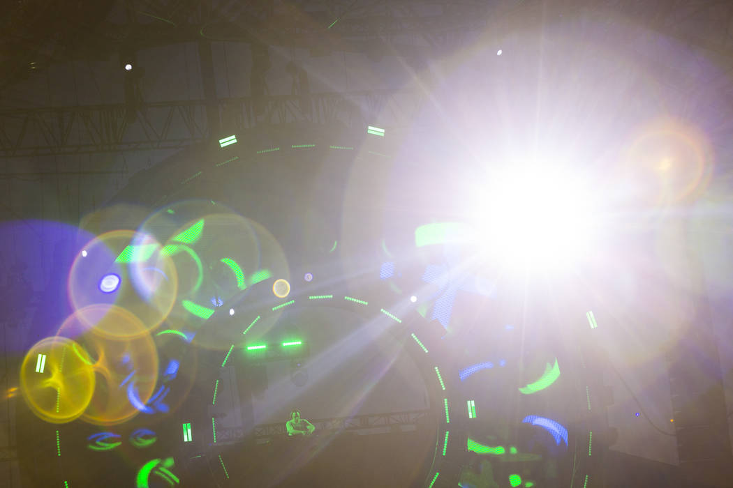 Niko Zografos performs at the Quantum Valley stage during the first day of the Electric Daisy C ...