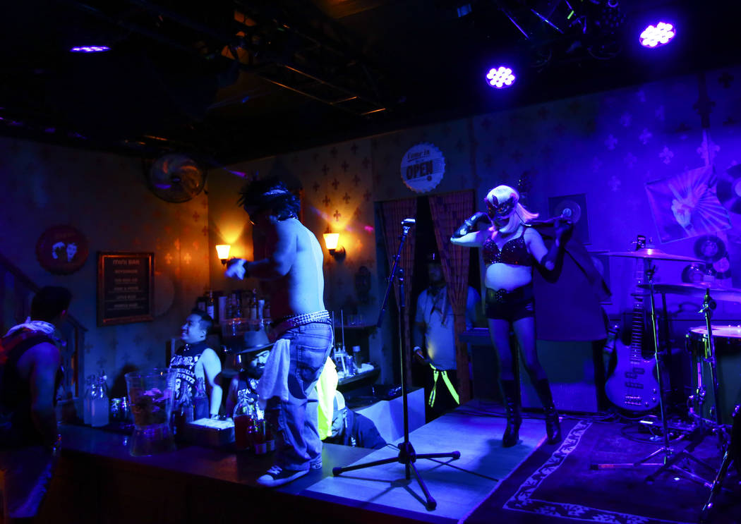 Performers at the Mini Bar during the first day of the Electric Daisy Carnival at the Las Vegas ...