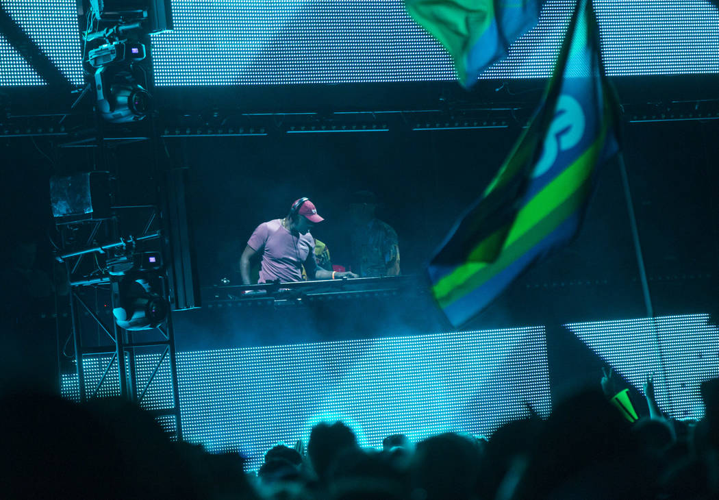 Idris Elba performs at the Neon Garden stage during the first day of the Electric Daisy Carniva ...