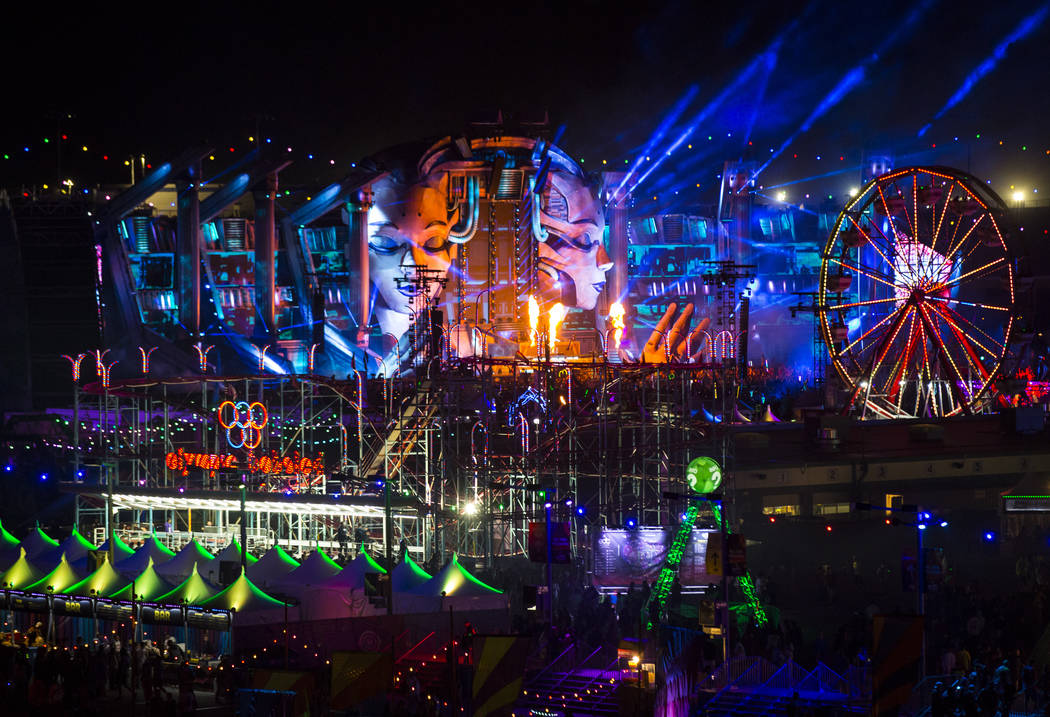 A view of the Kinetic Field stage during the first day of the Electric Daisy Carnival at the La ...