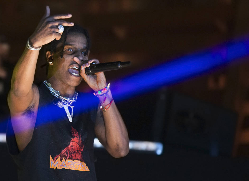 A$AP Rocky performs on the Cosmic Meadow stage during day two of Electric Daisy Carnival at Las ...