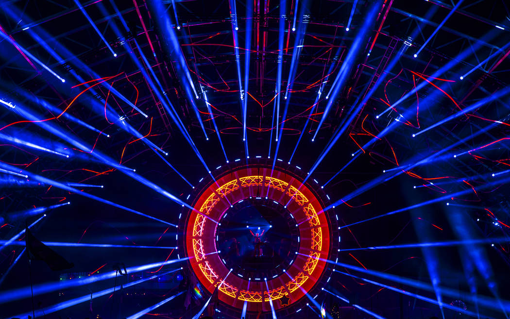 David Gravell performs on the Quantum Valley stage on day three of Electric Daisy Carnival at L ...