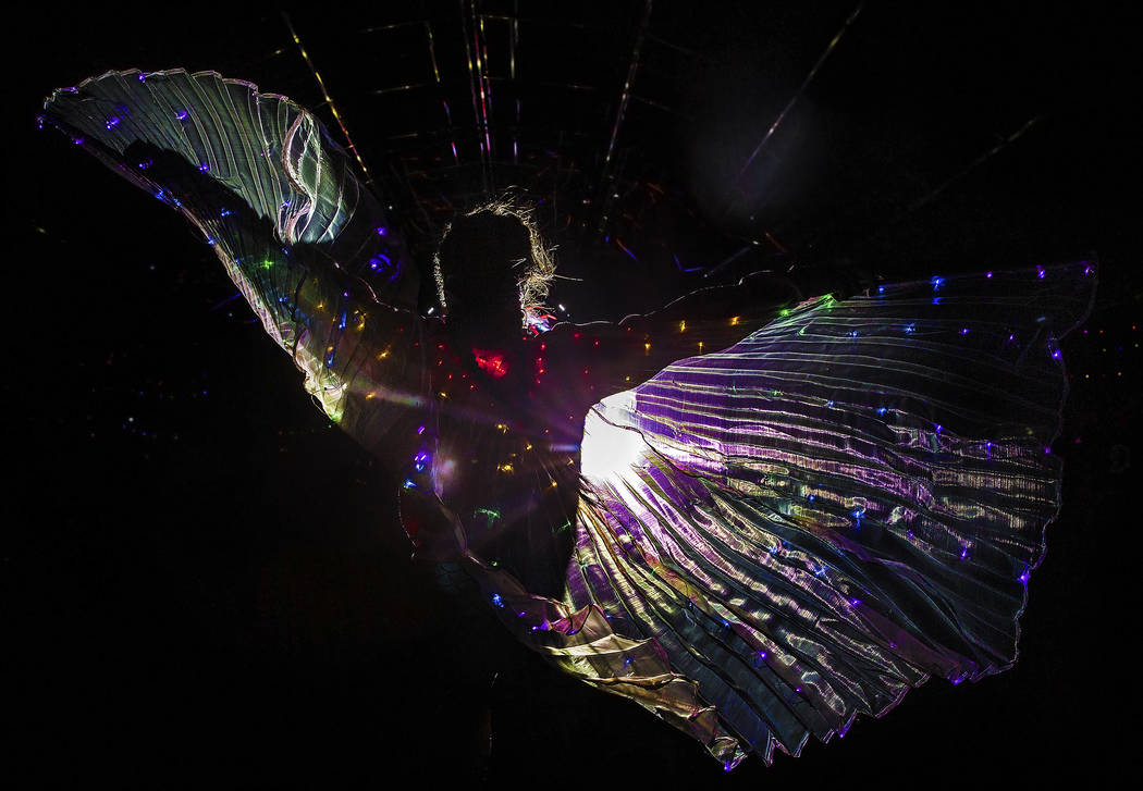 Las Vegas resident Breanna Robbins at the Quantum Valley stage on day three of Electric Daisy C ...
