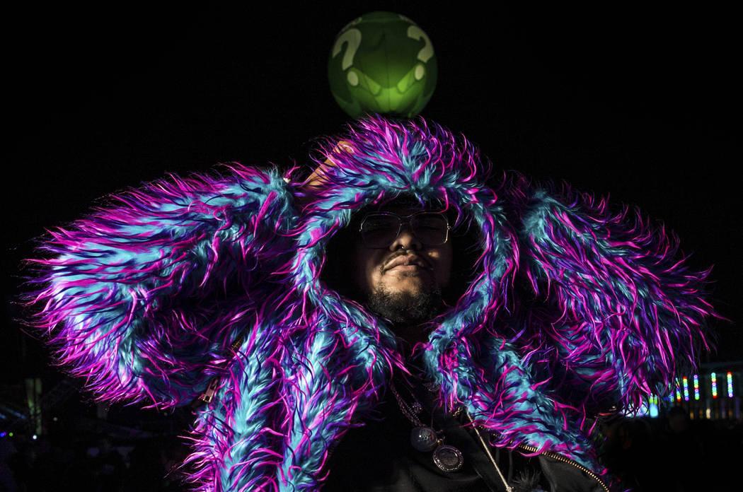 Joshua Taylor, from Sacramento, Calif., on day three of Electric Daisy Carnival at Las Vegas Mo ...