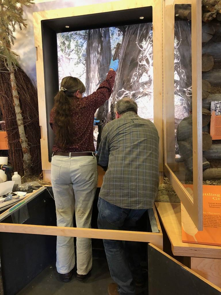 Great BasinNational Parkcultural resources program manager Eva Jensen and Dan DiVittorio of ...