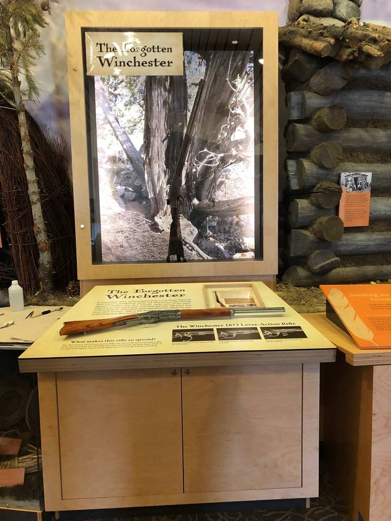 "A new exhibit at Great Basin National Park shows the park's ""Forgotten Winchester"" in a display ..."