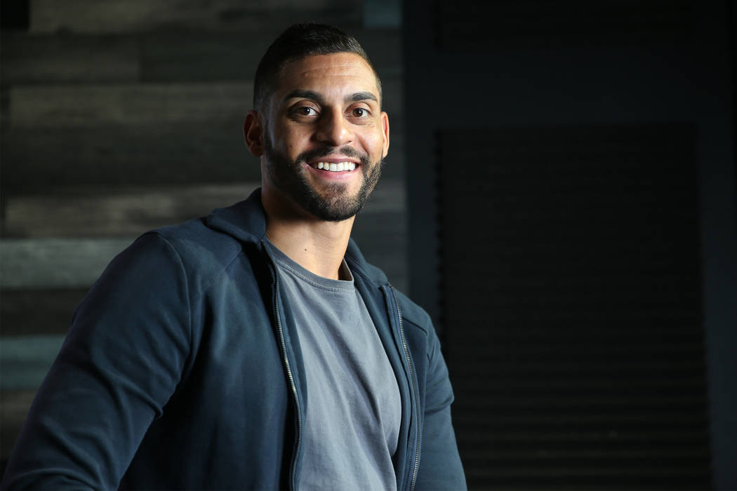 Golden Knights' Pierre-Edouard Bellemare is photographed at the Las Vegas Review-Journal in Las ...
