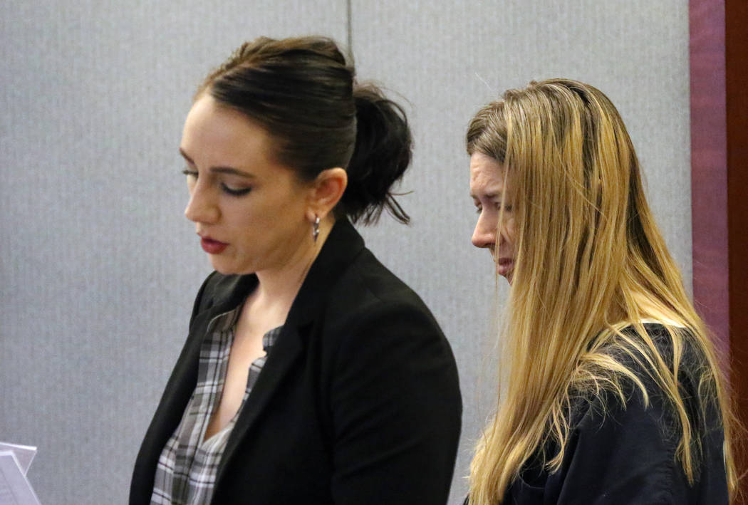 Linette Boedicker, right, accused of drowning her 2-year-old daughter in bathtub, listens as he ...