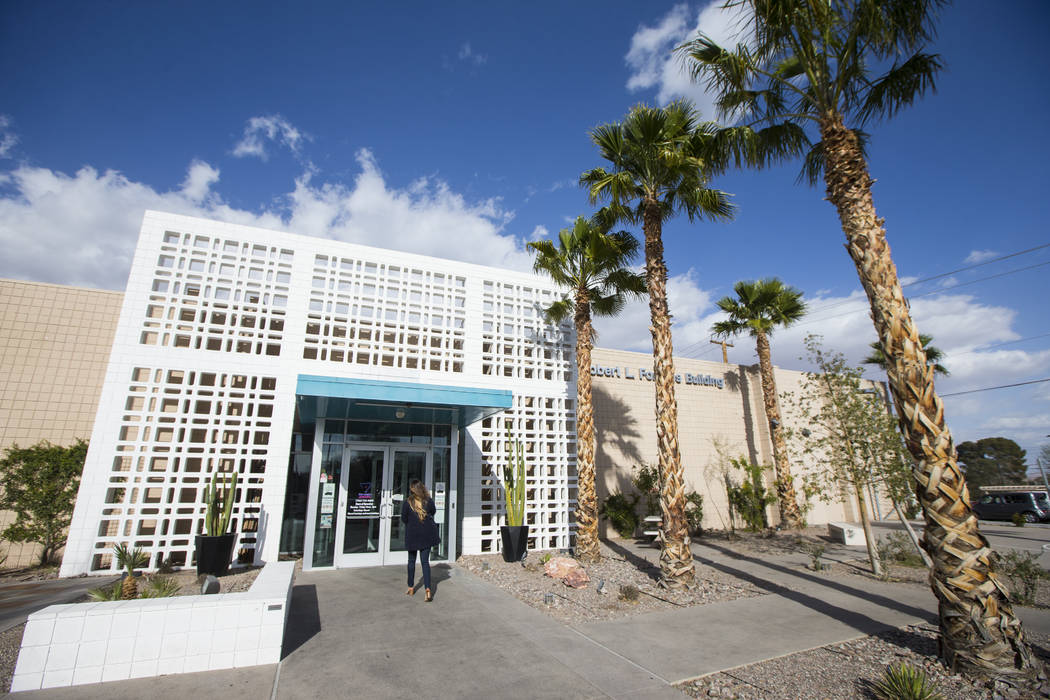 The Center, also known as the Gay and Lesbian Community Center of Southern Nevada, in Las Vegas ...