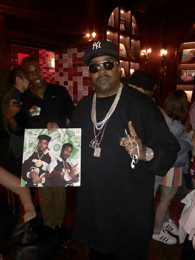 "Eric B. of hip-hop duo Eric. B & Rakim attends the ""Metamorphosis"" afterparty at On The Record ..."