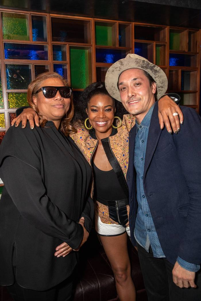 "Queen Latifah, Gabriel Union and Mark Houston attend the ""Metamorphosis"" afterparty at On The R ..."