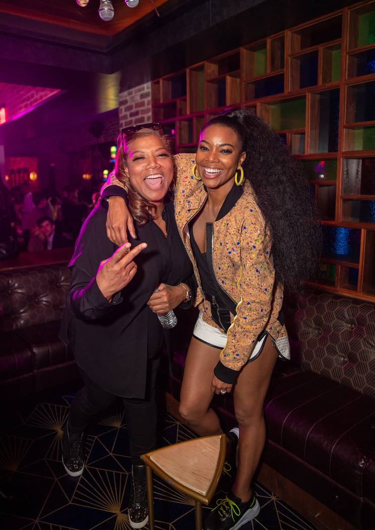 "Queen Latifah and Gabrielle Union attend the ""Metamorphosis"" after party at On The Record Speak ..."