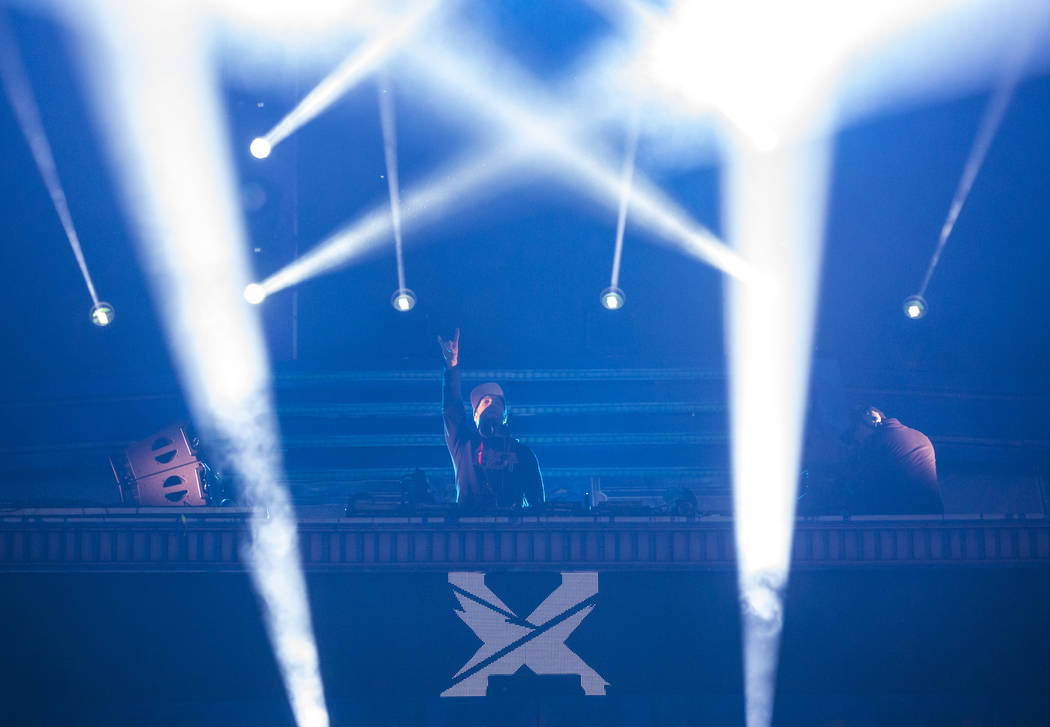 Excision performs at the Kinetic Field stage during the first day of the Electric Daisy Carniva ...