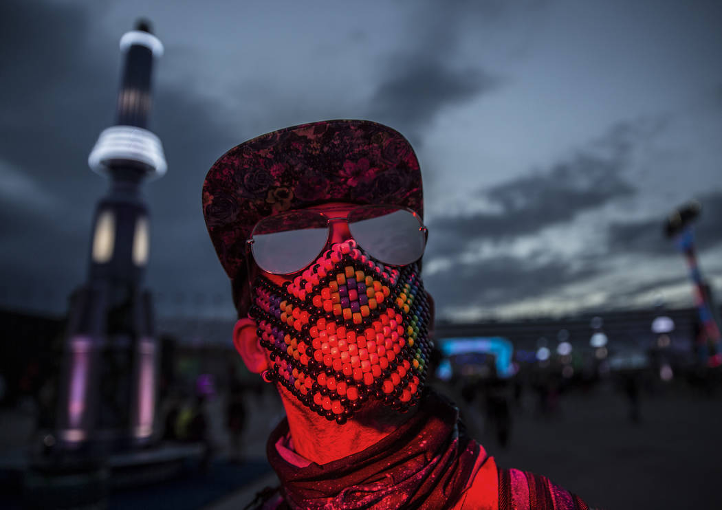 Matt Holker, from Los Angeles, Calif., during day two of Electric Daisy Carnival at Las Vegas M ...