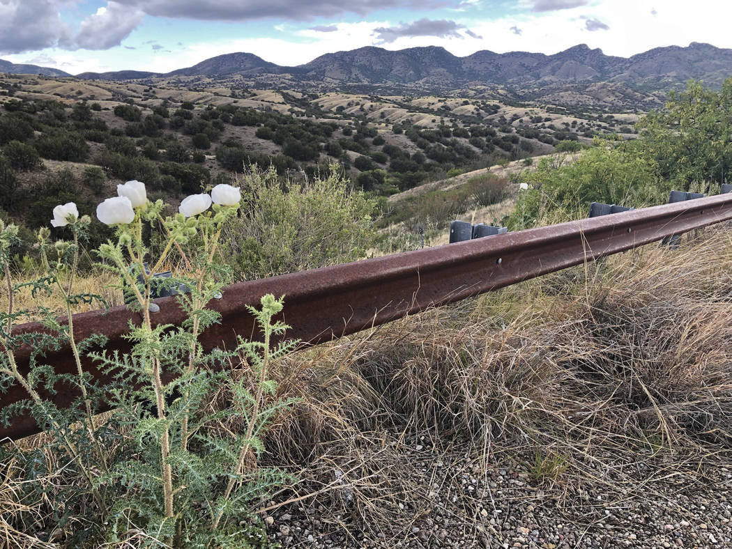 This photo taken Monday, May 12, 2019, off Arizona scenic state Highway 83 shows the eastern sl ...