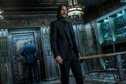 "This image released by Lionsgate shows Keanu Reeves in a scene from ""John Wick: Chapter 3 ..."