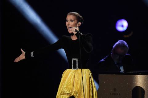 "Celine Dion performs at the ""Aretha! A Grammy Celebration For The Queen Of Soul"" event at the S ..."