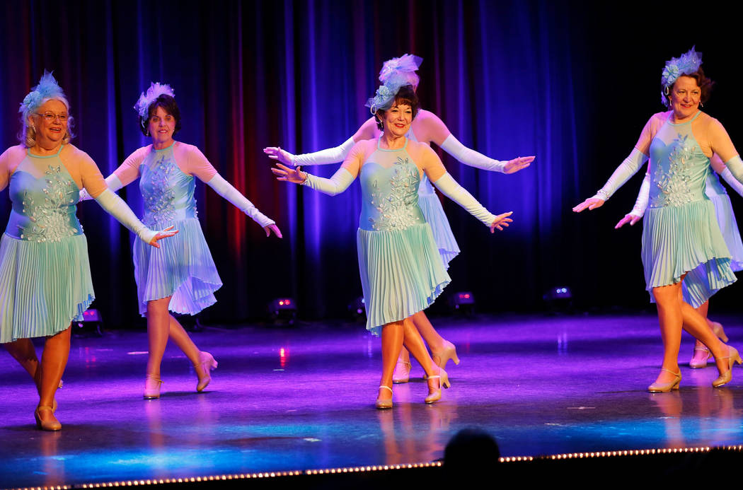 Dancers from Sun City Dance Company perform during the Hollywood Lights show at the Starbright ...