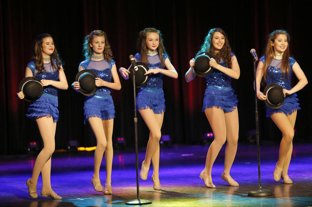 Special guest dancers from Spotlight Kids Performing Company perform during the Hollywood Light ...