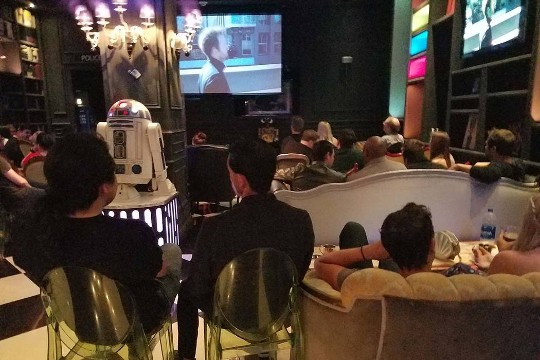 """People watch """"Game of Thrones"""" during a watch party at Millennium Fandom Bar in Las Vegas, Sund ..."""