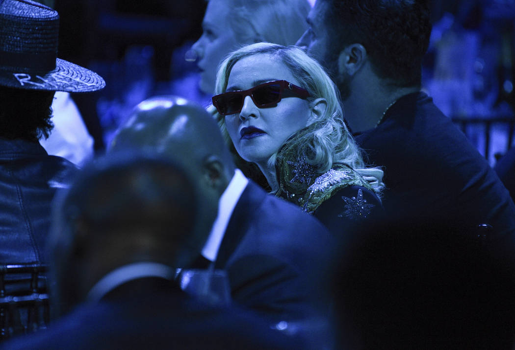 Madonna attends the 30th annual GLAAD Media Awards at the New York Hilton Midtown on May 4, 201 ...
