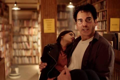 "Brittany Hoza and Gabriel Burrafato in a scene from ""Unwritten."" (Neven Films)"