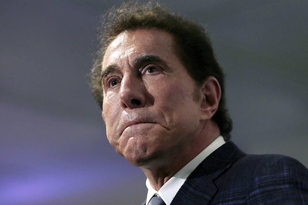 This March 15, 2016, file photo, shows casino mogul Steve Wynn at a news conference in Medford, ...