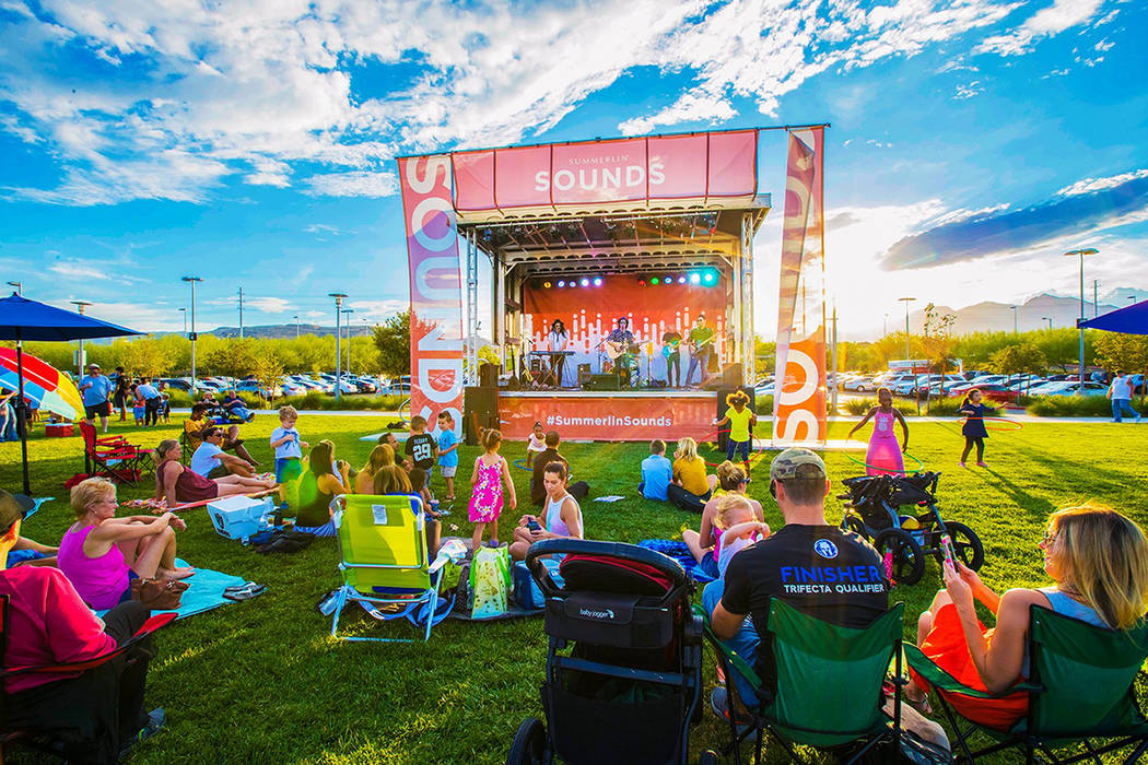 All The Summerlin Sounds Concert Series concerts are free and open to the public and dogs on le ...