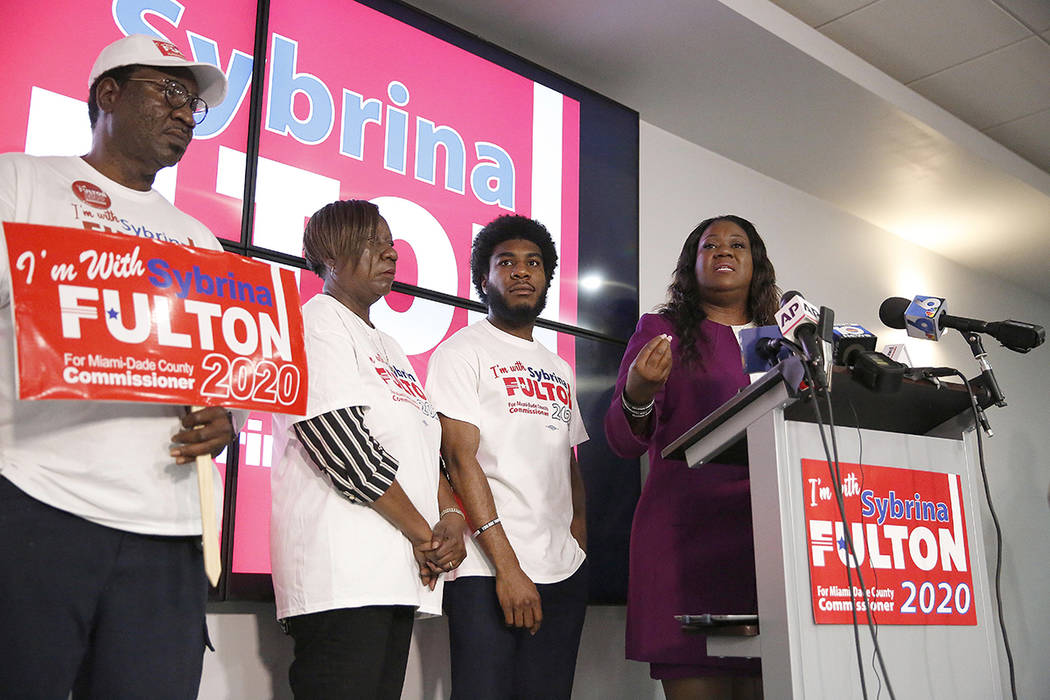 Sybrina Fulton announces her run for the District 1 seat of the Miami-Dade County commissioners ...