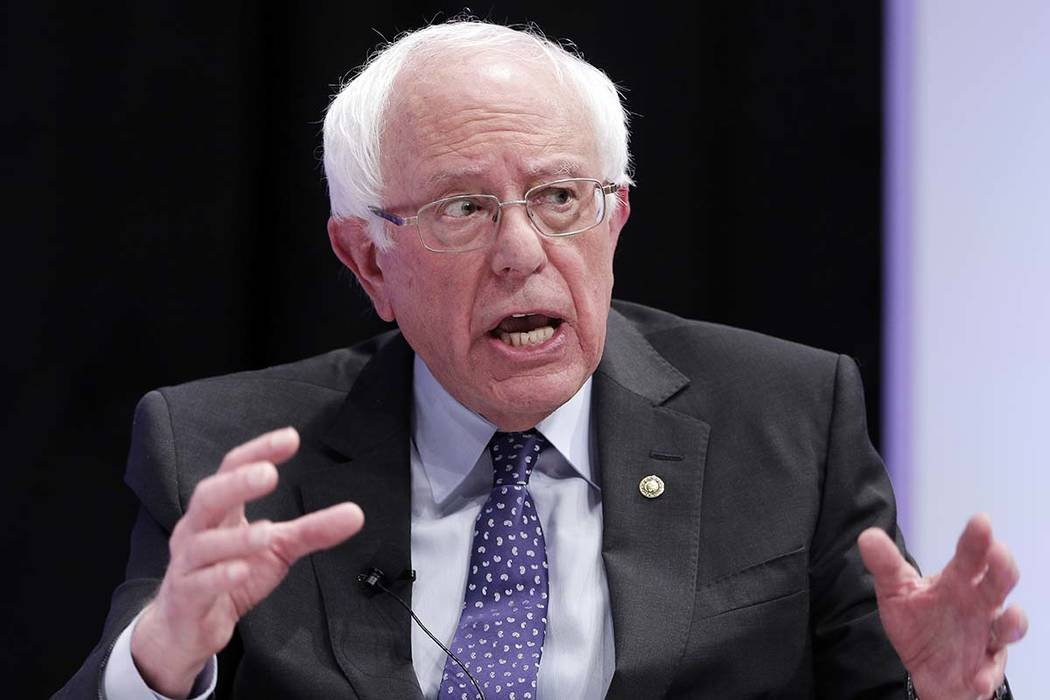 Sen. Bernie Sanders, I-Vt. (AP Photo/Michael Wyke)