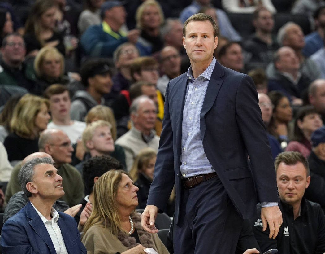 FILE - In this Friday, Nov. 16, 2018 file photo, Chicago Bulls head coach Fred Hoiberg watches ...