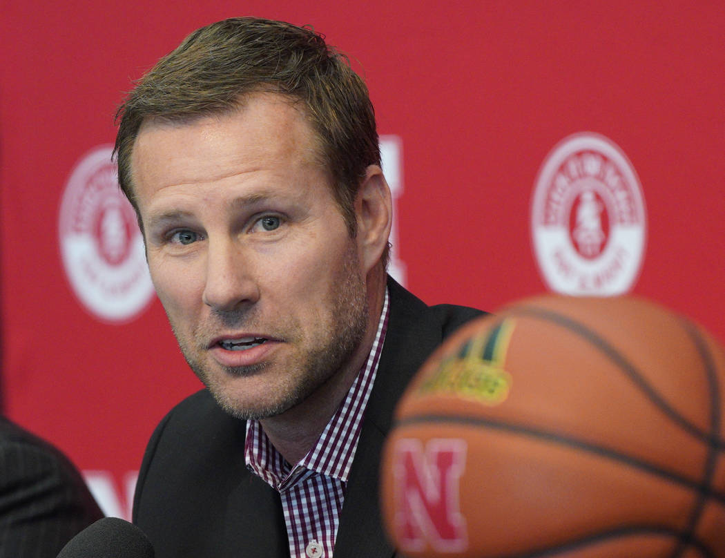 Fred Hoiberg is introduced as Nebraska's new NCAA college basketball head coach at a news confe ...