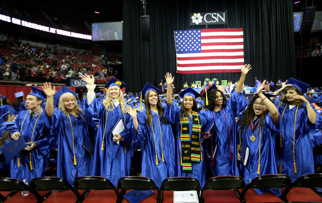 Graduates, from left, Miguel Nunez, Maria Gundacker,Maritta Matveeva, Shannon Greenwood, ...
