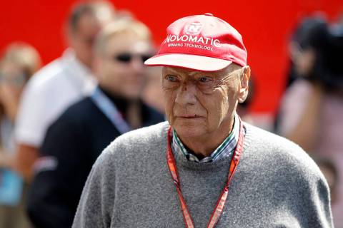 FILE - In this July 7, 2018, file photo, former Formula One World Champion Niki Lauda of Austri ...