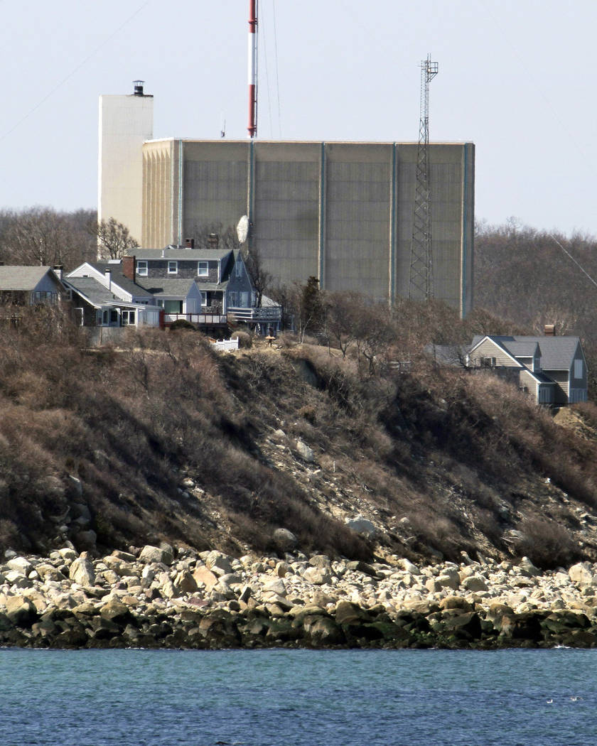 FILE - This March 30, 2011, file photo shows the Pilgrim Nuclear Power Station in Plymouth, Mas ...