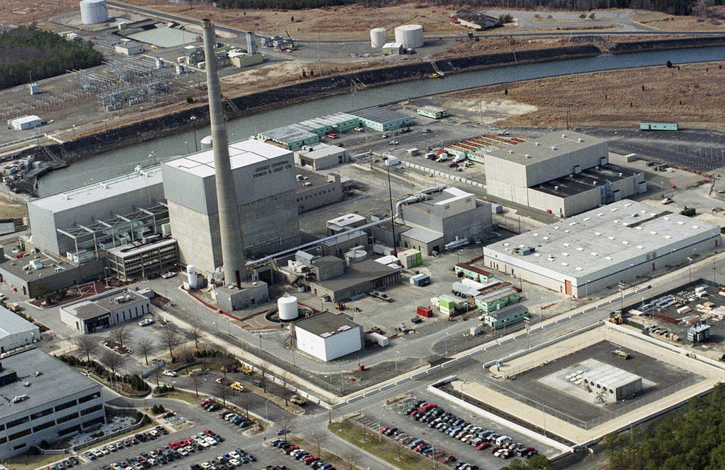 FILE - This July 8, 1998, file aerial photo shows the Oyster Creek Nuclear Generating Station i ...