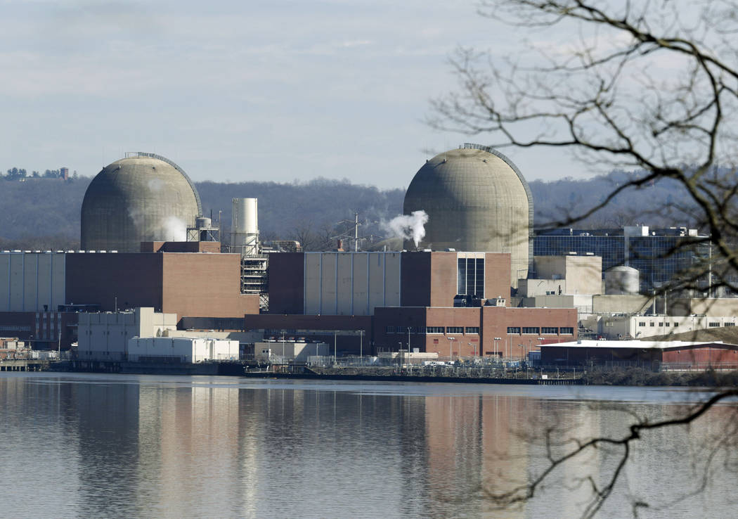 FILE - This Feb. 28, 2017, file photo shows Indian Point Energy Center in Buchanan, N.Y. A deal ...