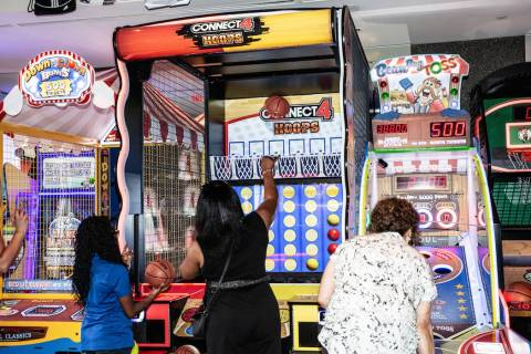 Guests play games at Arcade City in Las Vegas. (Arcade City)