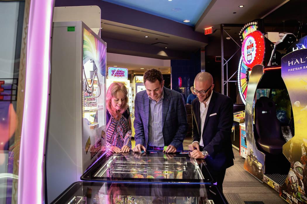 Guests play games at Arcade City in Las Vegas. (Arcade City)