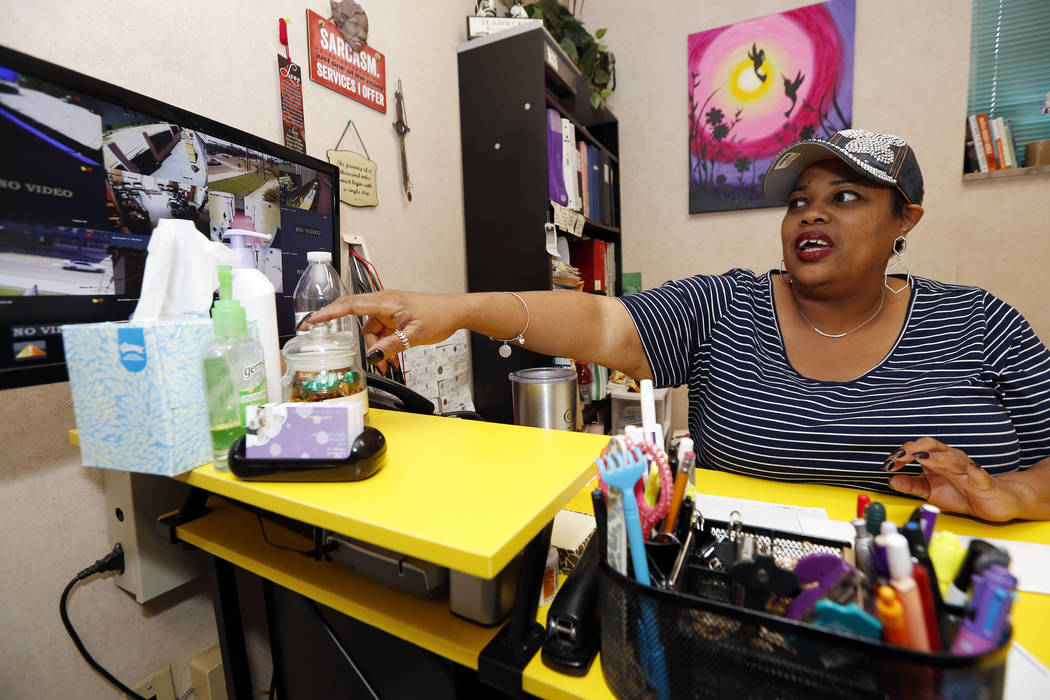 Shannon Brewer, the clinic director at the Jackson Women's Health Organization, watches a monit ...