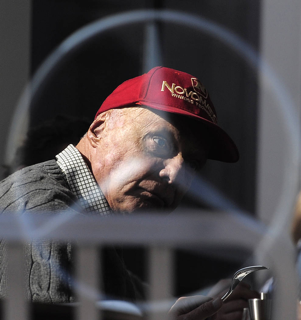 In this Friday, Feb. 20, 2015 file photo former Austrian Formula One driver Niki Lauda is pictu ...