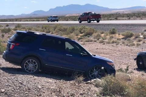 A 75-year-old man died in a crash on Interstate 15 near the Las Vegas Motor Speedway, Tuesday m ...