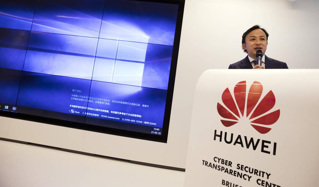 Abraham Liu, Chief Representative of Huawei to the European Institutions speaks during a DigitA ...