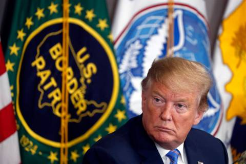 President Donald Trump participates April 5, 2019, in a roundtable on immigration and border se ...