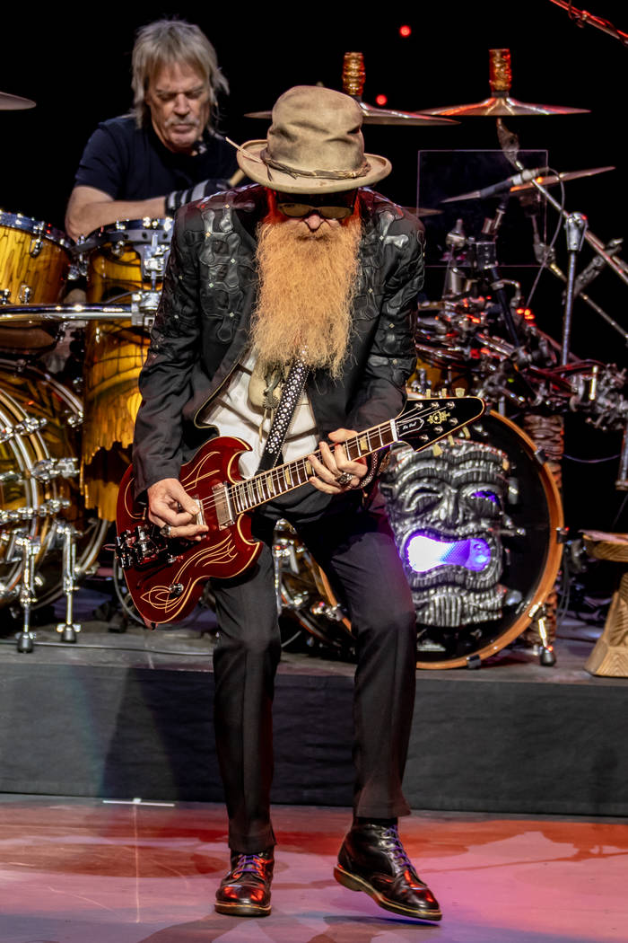 Billy Gibbons of ZZ Top plays during the group's opening of an eight-show extended engagement a ...