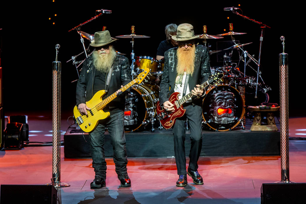 ZZ Top kicks off its eight-show extended engagement at The Venetian Theater on Saturday, Jan. 1 ...